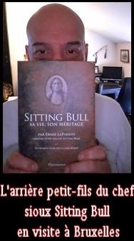L'arrière petit-fils du chef sioux Sitting Bull en visite à Bruxelles
